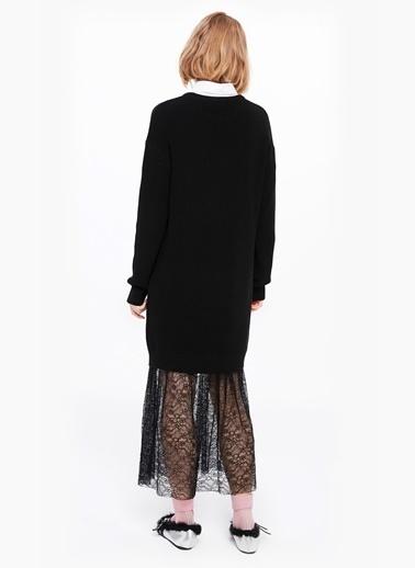 Eteği Dantel Mixli Triko Elbise-Twist